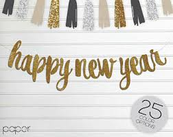 Happy New Year Decorations New Years Eve Etsy