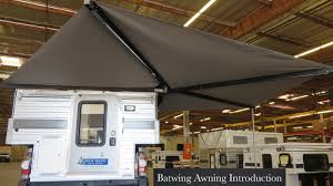 Trail Pop Up Awning Batwing Awning Introduction Four Wheel Campers Youtube