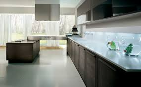 contemporary kitchen glass wood veneer integra pedini