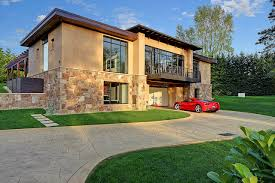 modern home design seen from a fancy car addicted who has a 16 car modern home design seen from a fancy car addicted who has a 16 car garage