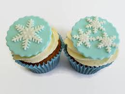 winter frozen party cupcake snowflake fondant by lenascakes etsy