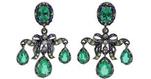 girandole earrings lyst gemfields x muse girandole earrings in green