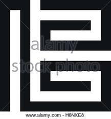 Monogram Letter B Unusual Geometric Letter B Architecture Vector Logo Isolated