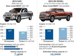 nissan titan xd towing capacity diesel trucks autos chicago tribune