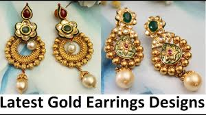 earring design gold earrings designs