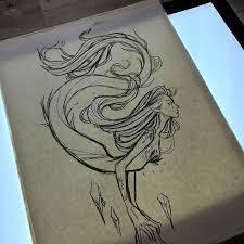 best 25 mermaid sketch ideas on pinterest mermaid drawings