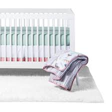 sweet jojo designs crib bedding set coral u0026 mint woodsy 11pc
