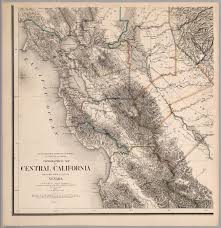 Topographic Map Of Arizona by Topographical Map Of Central California Together With A Part Of