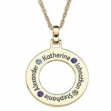necklace with name and birthstone chic name necklace with birthstone and birthdate silver or gold