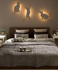 Bedroom Wall Design Ideas Bedroom Wall Decor Ideas by How Brilliant Is This Cat Light Wall Get The Diy Here