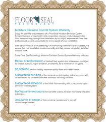 warranty floor seal technology