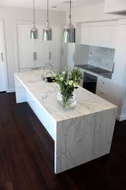 carrara marble kitchen island kitchen caesarstone carrara quartz imitation