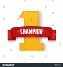 Number One Number One Champion Red Ribbon Vector Stock Vector 597688712
