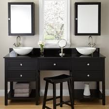 brilliant single sink vanity with makeup area modern clubnoma com