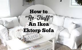the 12 trick to refresh the ikea ektorp sofa the glam farmhouse