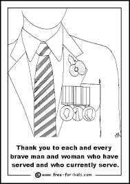 coloring pages remembrance day thumbnail image veteran with medals jpg