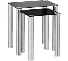 Black Glass Tables Buy Home Matrix Nest Of 2 Glass Tables Black At Argos Co Uk
