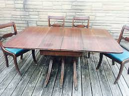 pedestal dining table with leaf reduced price duncan phyfe mahogany drop leaf triple pedestal dining