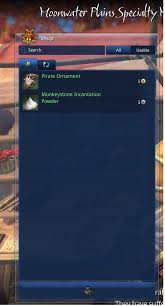 pirate ornament and monkeystone powder crafting and economy