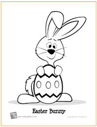 easter bunny egg free printable coloring
