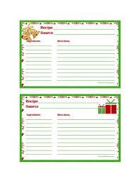 christmas recipe card 4 x6 recipe cards рецепти меню