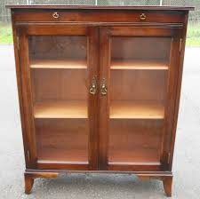 Narrow Mahogany Bookcase by Small Mahogany Glazed Bookcase Cabinet Sold