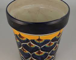 mexican pottery planter etsy