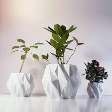 Indoor Planter Pots by Polygon Plant Pot 3d Printed Geometric Pots Modern Art Plastic