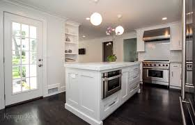 l shaped kitchen with custom cabinets in summit nj kountry kraft