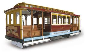 Cable Car Map San Francisco Wooden Model San Francisco Tram