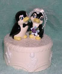 penguin collection by angela u0027s creations penguin wedding cake tops