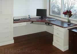 Built In Corner Desk Corner Mahogany Office Built In Desk Shaker Cabinets Hudson