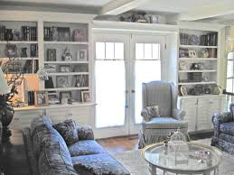 French Country Style Family Room Bookcases - Family room bookcases