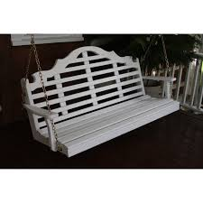 a u0026 l furniture yellow pine marlboro porch swing hayneedle