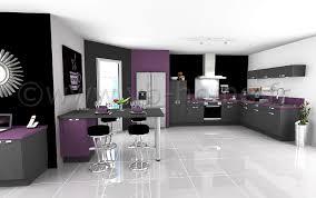 cuisine en violet chambre enfant cuisine ouverte moderne cuisine ouverte