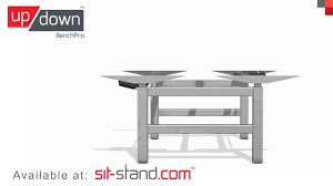 Stand Up Sit Down Desks by Standing Desk Up Down Pro Series Benchpro Demonstration