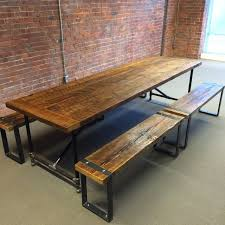 Outdoor Furniture Vancouver by Barn Wood Dining Table And Benches Rustic Dining Room
