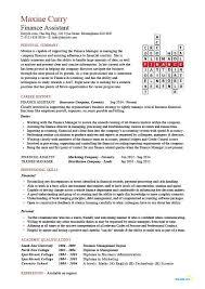 resume template for account assistant cv finance assistant cv sle strong ledger skills cv writing job