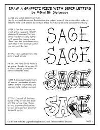 draw a graffiti name with serif letters