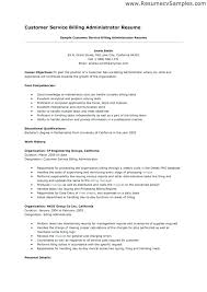 Resume Handling Customer Service Resume Objective Examples Resume Example And