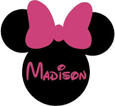 minnie mouse ears name personalized 26x24 vinyl wall lettering