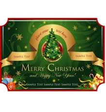 classic christmas card royalty free vector image