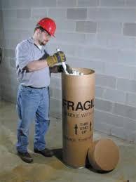 fluorescent light recycling cardboard fiber drums cardboard