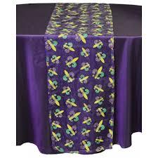 mardi gras table runner mardi gras fleur de lis table runner purple sheer pst15904