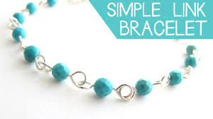 diy necklace making images Diy jewelry make a simple wire link bracelet jessica barst