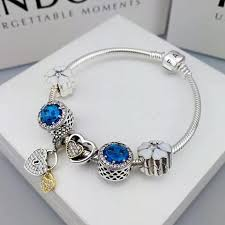 bracelet with charm images Pandora charm bracelet with charms blue JPG