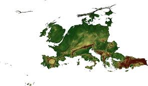 Topographical Map Of Europe by A Europe Of Cities And Regions New Europeans