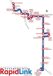 Metro Link Map by Riverside Transit Agency Rapidlink Project