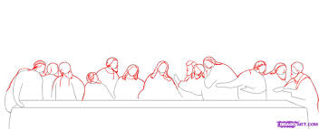 how to draw the last supper step by step art pop culture free