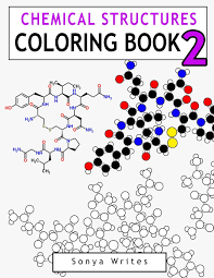 amazon com chemical structures coloring book 2 9781539365259